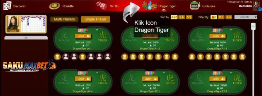 Panduan Baccarat Dragon Tiger Online